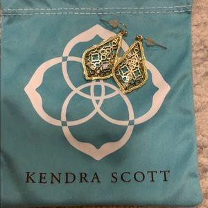 Kendra Scott Addie Gold Drop Earrings In Gold